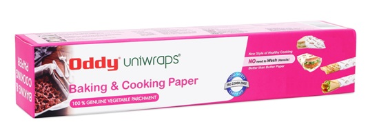 Oddy Uniwraps Parchment Paper For Baking - Set of 1