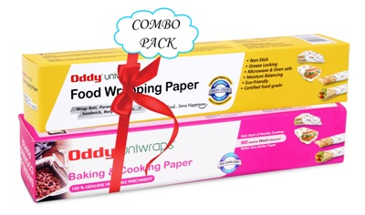 Oddy Combo Pack for Uniwraps Food Wrapping Paper & Parchment Paper