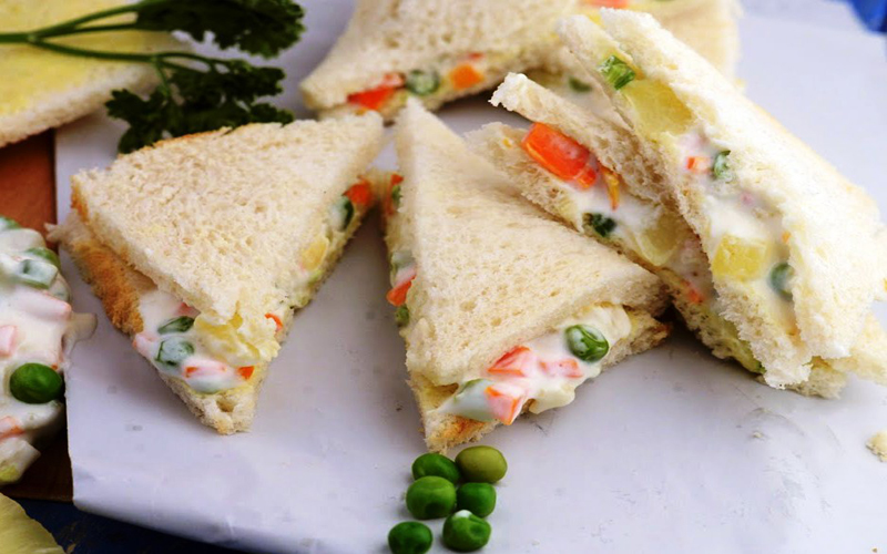 Boiled Egg Sandwich by Tarla Dalal