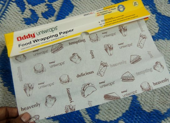 Oddy Uniwraps' food wrapping paper