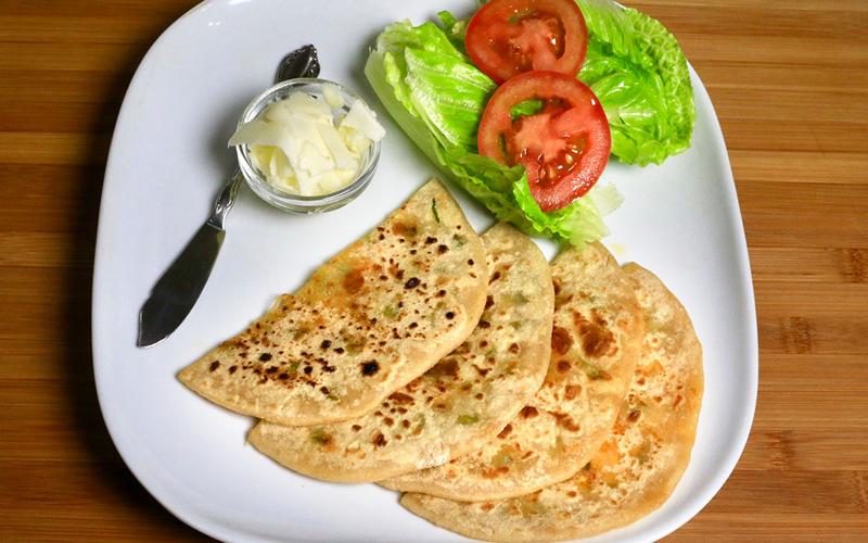 Jalapeno Cheese Paratha