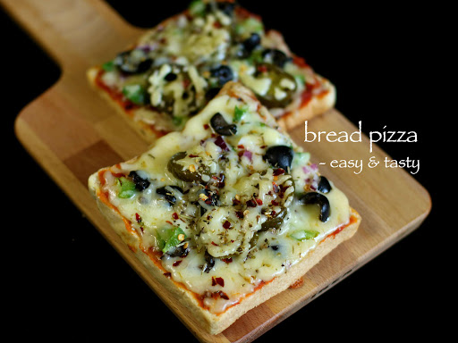 Bread Pizza-Quick Recipe