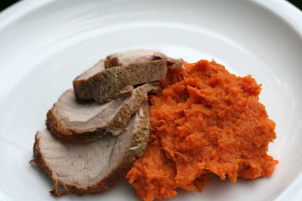SPICY MASHED SWEET POTATOES