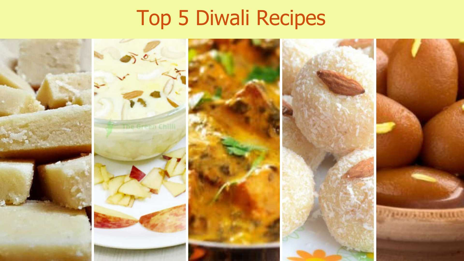 Top 5 Diwali Recipes