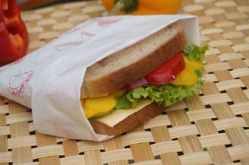 Sandwich wrap paper